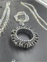 16 Pcs. Vintage Glass & Crystal Jewelry