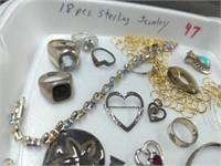 18 Pcs. Sterling Jewelry