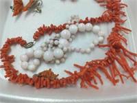 6 Pcs. Vintage Coral Jewely