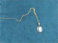 Vintage 10K Cameo Pendant & Chain