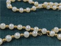 Pearl Bracelet/Necklace, Onyx Necklace