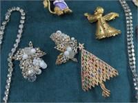 20 Pcs. Vintage Rhinestone Jewelry