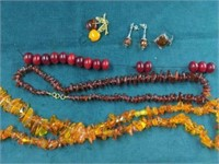 6 Pcs. of Amber Jewelry etc.