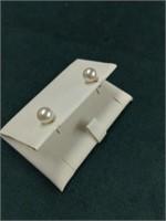 10K Mikimoto Pearl Earrings