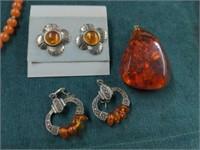 6 Pcs. Amber Jewelry etc.