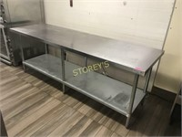 8' x 30 S/S Work Table