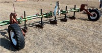 Cultivator tool bar w/gauge wheels & ditchers