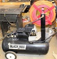 Black Max air compressor w/hose reel