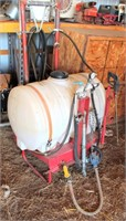 3-pt field sprayer w/booms. PTO pump. 50-gal