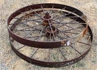 Iron spoke wheels