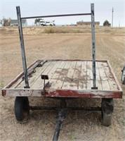 Horse drawn hay wagon