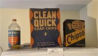 Lot: Vintage Soap boxes and Bottles, 3 pcs