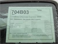 2011 CHEVROLET EXPRESS 3500 CUTAWAY