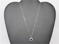 2.50 ct Sapphire Necklace