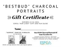 Charcoal Portrait by Ann Reding