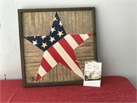 Wood Flag Star Picture & Katy's Pantry Gift Card