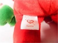 Santa and Zero Beanie Babies