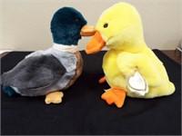 Beanie Buddies Quackers and Jake