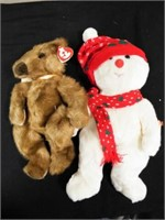 Beanie Buddies Snowboy and Baby Ginger