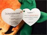 Beanie Buddies Waddle and Pumkin