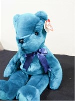 Beanie Buddies Teal Teddy and Millennium