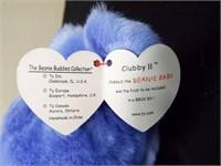 Beanie Buddies Cranberry Teddy and Clubby II