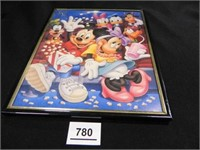 Mickey Mouse Print; 8 x 10; framed