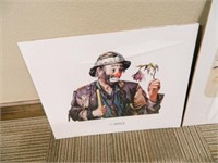 Emmett Kelly Jr. Print Collection (4)