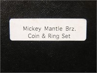 Mickey Mantle Ring & Coin Set