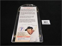 Mickey Mantle Organ Donation Card