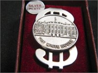 White House Money Clip-Silverplate