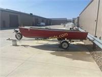 November 25 - 14' Aluminum Boat w/ Trailer & Outboard Motor