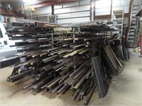 Large selection of welding steel including mangle