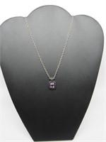 Black Onyx Amethyst Necklace