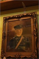 Framed Vintage Pastel - Soldier