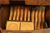 Wood Brackets & Decorative Wood Blocks - 22 Pc