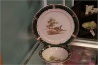 Nortake Plate & Bowl W/ Pheasant Motif