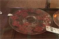 Glass Cake Plates - 2 Pc