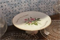 Marked ceramic Cake Plate & others - 5 Pc