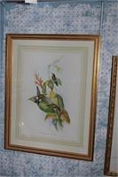 Ladies on pond & hummingbirds - 2 Pc