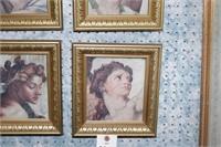 Framed Michelangelo Prints - Set of 4