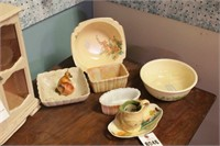 Yellow Bowls, Dishes, Etc. - 8 Pc