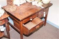 Wood Bakers Cabinet w/ rounded bottom drawers
