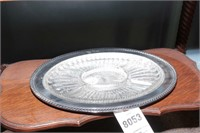 Metal & Glass H'ordervres Trays - 2 Pc