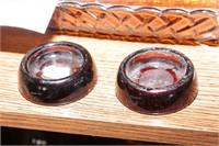 Hobnail vase & Amber Glass - 10 Pc