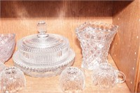 Decorative Glass fluted candy dish w/ lid  - 10 Pc