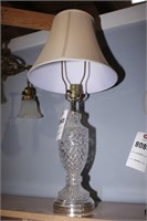 Tall Clear Glass Table Lamp