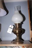 Aladdin Brass Oil Lamp - Converted to Electric