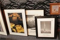 5 Framed Photos - 2 Ansel Adams