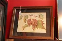 Framed Prints - Fruit & Floral - 4 Pc